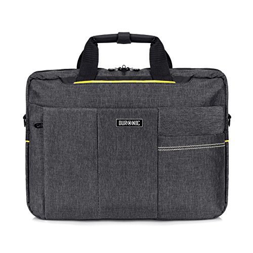 "Duronic lb14 ""active"" borsa messenger a tracolla da viaggio per tablet macbook laptop pc portatile 15.6"" completamente impermeabile"