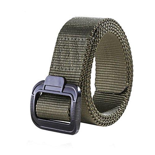 QHGstore Men's Adjustable webbing Military Belt Tactical