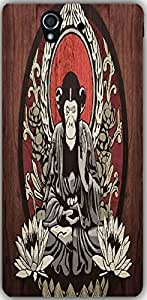 Snoogg Meditating Monkey 2656 Case Cover For Sony Xperia L 36