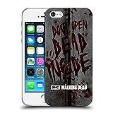 Offizielle AMC The Walking Dead Dead Inside Typografie Soft Gel Hülle für Apple iPhone 5 / 5s / SE