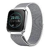 CamKpell FIT22 1,3 Zoll Smart Watch OLED-Farbbildschirm-Version IP68 wasserdichtes Armband Schwimmen Herzfrequenzmesser Smartband für Android - Silber & Grau