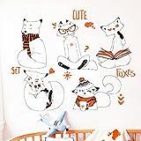 Étude Brune Chiens Croquis Animaux Sticker Mural Garçons Enfants Chambres Home Decor Vinyle Stencil Stickers Classe Chambre Meubles