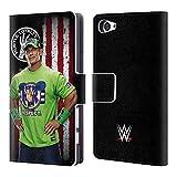 Head Case Designs Offizielle WWE John Cena Amerikanische Fahne Superstars Brieftasche Handyhülle aus Leder für Sony Xperia Z5 Compact