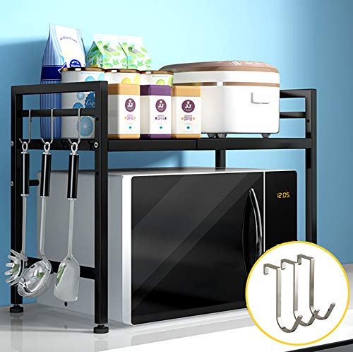 Mikrowellenherd Küchen-Mikrowellen-Rack-Doppelschicht-Teleskop-Backofen-Rack,7