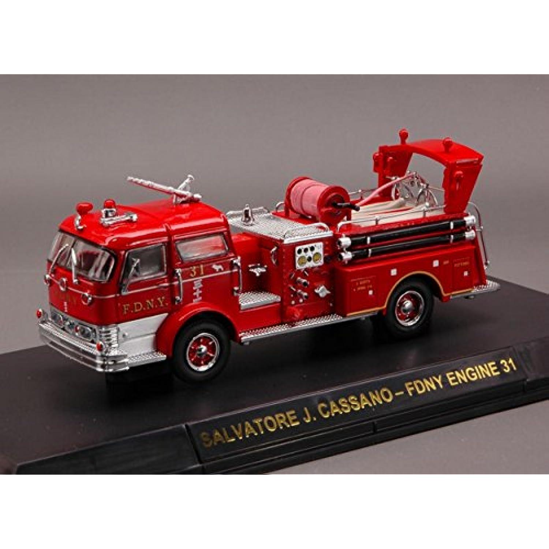 CODE CODE CODE 3 COD12562 MACK C PUMPER FIRE RESCUE NEW YORK 1:64 MODELLINO DIE CAST MODEL 32ee64
