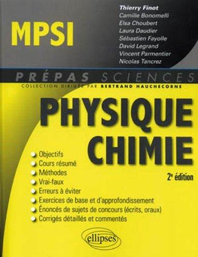 Physique Chimie MPSI - 2ème Edition