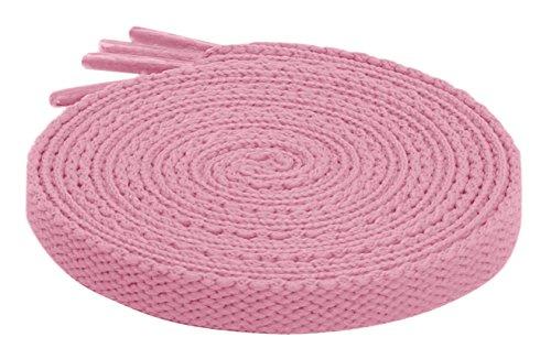 (2 Paar Schnürsenkel Flach Flachsenkel Sneaker Sportschuhe Schuhbänder Wanderschuhe Bergschuhe Trekkingschuhe Pink 120 CM)