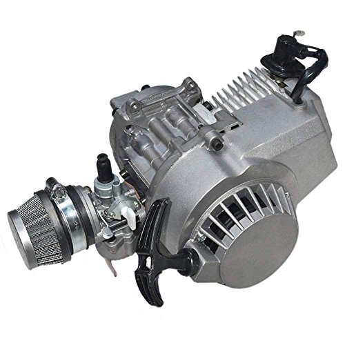 Alician 49cc 2 Tempi Pull Motor Engine Mini Pocket Pit Quad Dirt Bike ATV 4 Ruote Accessorio
