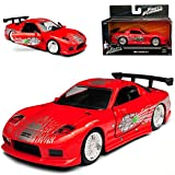 alles-meine.de GmbH Mazda RX7 Dom´s Dominik Toretto Vin Diesel Rot 1991-2002 The Fast and The Furious 1/32 Jada Modell Auto