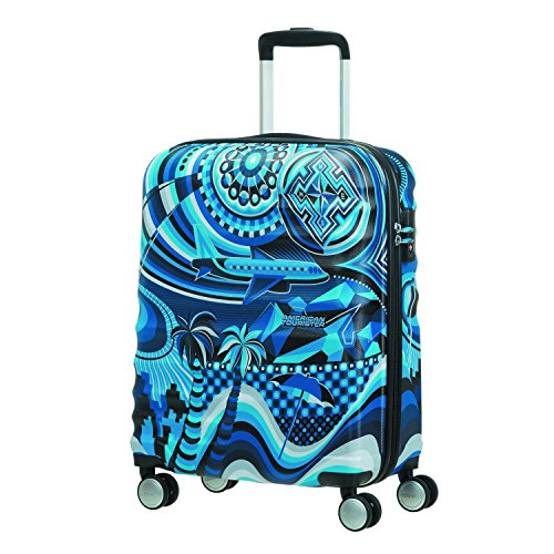 American Tourister MWM Summer Flow - Spinner 55/20 TSA Equipaje de mano, 55 cm, 36 liters, Varios colores (Summer Flow)