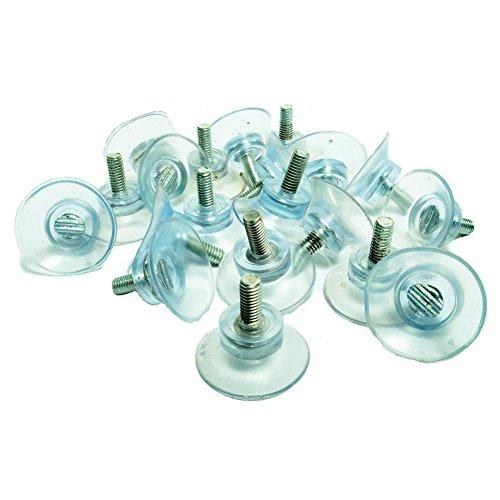 20PCS Gummi starker Saugnapf Ersatz für Glas Tischplatten, mit 6m Schraube Lowrance Pc