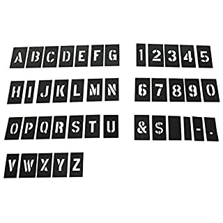 Howhome Marking Commercial Stencil Set, 3 inch 138 Piece Numbers and Letters Stencil Kit, Interlocking Stencils Kit, Plastic Stencil kit