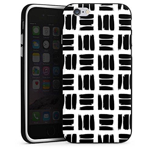 Apple iPhone 5s Housse Outdoor Étui militaire Coque Noir et blanc Motif Motif Housse en silicone noir / blanc