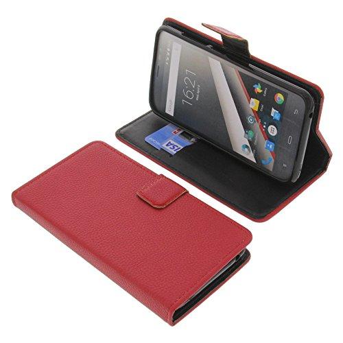 foto-kontor Tasche für Phicomm Clue L Book Style rot Schutz Hülle Buch