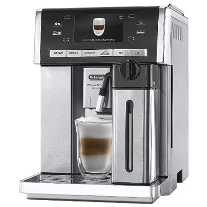 DeLonghi-PrimaDonna-Exclusive-ESAM-6900-Kaffeevollautomat-1350-Watt-46-Zoll-TFT-Farbdisplay-integriertes-Milchsystem-Kakao-Trinkschokoladenfunktion-Edelstahlgehuse-silberedelstahl