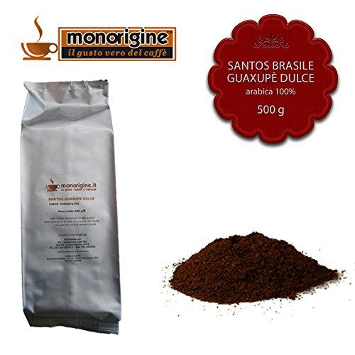Caffè Arabica macinato fresco per moka Santos Brasile Guaxupè Dulce 500 gr - Caffè Monorigine Arabica 100%