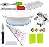 #4: Cake Decoration Tools Set Decorating Turn Full Rotating Round Table with Accessories (hpk-bdjk3)