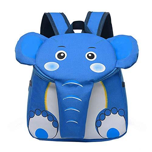 Vikenner. Mochila para niños con Varios Compartimentos, Color Rojo, 21 x 10 x 28 cm, diseño de Elefante, Azul (Azul) - 122
