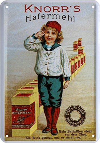 Knorr´s Hafermehl Nostalgie Reklame Blechschild Postkarte Blechkarte PKM 172