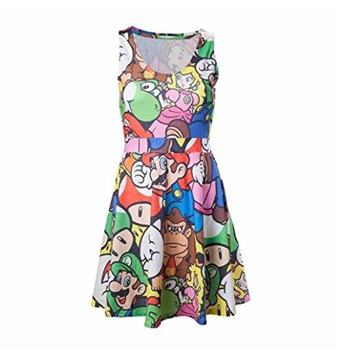 Bioworld Nintendo - Mario and Friends Kleid - Womens Luigi Kleid Kostüm