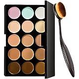Gazechimp Conjunto 15 Colores Corrector De Paleta De Maquillaje Cara Contorno Crema + Compone Cepillo