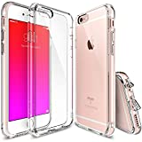 Ringke [Fusion]iPhone 6S/6 Case - Ringke FUSION Clear PC Back TPU Bumper [Crystal Clear] Attached Dust Caps with Screen Protector-parent, Clear, medium