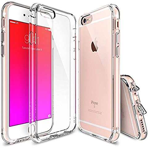 iPhone 6S Case, Ringke [FUSION] Crystal Clear PC Back TPU Bumper w/ Screen Protector [Drop Protection/Shock Absorption Technology][Attached Dust Cap] For Apple iPhone 6S / 6 - Crystal View