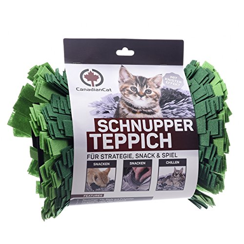CanadianCat Company ® | Filz Schnupperteppich - Schnüffelmatte für Katzen in grasgrün