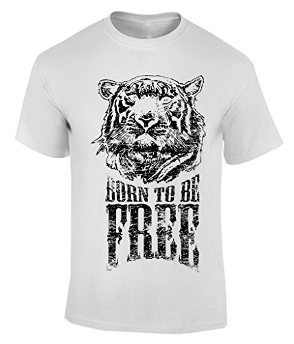 Born to be free T-Shirt Herren Weiß