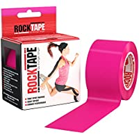 Rocktape Kinesiology Tape Athletes, Water Resistant, Reduce Pain & Injury Recovery, for Large Muscle Groups, Uncut, Blue