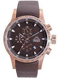 Kappa Reloj de hombre con correa de piel, indicación de fecha día de la semana GMT KP de 1434 m de D