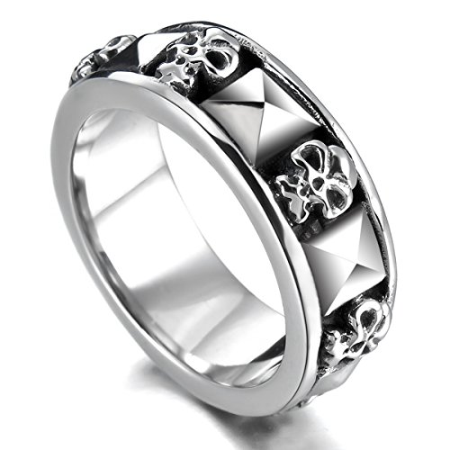 munkimix-stainless-steel-ring-band-silver-tone-black-skull-pyramid-size-p-men
