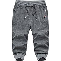 Xdkjan Pantalones Cortos de Punto Pantalones Cortos de Punto Pantalones Cortos de Algodón Elástico para Hombre, Color XXXL, Tamaño AC