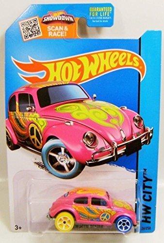City, Treasure Hunt Volkswagen Beetle [Pink] Die-Cast Vehicle #26/250 by Hot Wheels ()