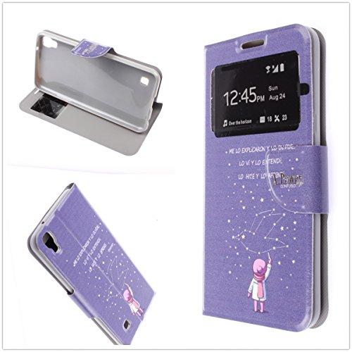 MISEMIYA - Hüllen Taschen Schalen Skins Cover für LG X POWER (K220) - Hüllen , Cover mit Sichtfenster und Halterung,A92