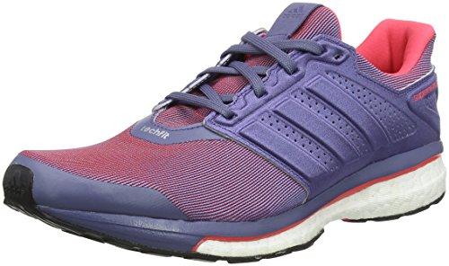 Adidas Nova Cushion W - Zapatillas de Running para Mujer, Color Negro/Azul, Talla 37 1/3