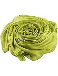 ACMEDE Echarpe Foulard Long Doux Elegant En Soie Coton Cou Wrap Chale Pour  Femme Ete Hiver f49214aeb431