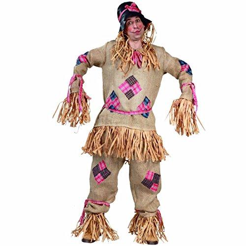 Imagen de disfraz espantapájaros atuendo espantajo l 52/54 ropa muñeco de paja outfit halloween pelele traje carnaval original vestido esperpento
