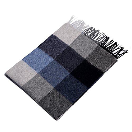 Echarpe ZHANGRONG- Hommes Treillis Hiver Les Jeunes Simple Sauvage Collier -Chaleur extérieure d'hiver