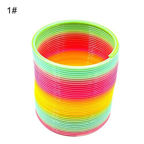 schöne Kunststoff Slinky Rainbow Kreis Spring Toy lustige Kinder Kinder Geschenk 1# ()