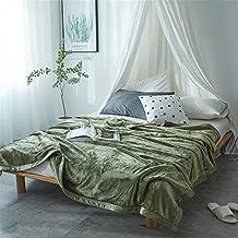 LILUO Mantas y colchas Sobrecama Práctico Color sólido Falais Mantas sábanas engrosadas Solo acondicionador de Aire