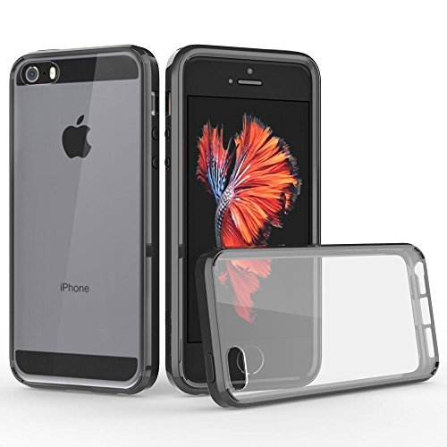 iphone-se-case-the-keep-talking-shop-black-fusion-hybrid-cover-gel-silicone-tpu-air-cushion-bumper-f
