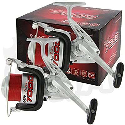 2 x NGT MAR7000 1BB Multi Disk Front Drag Sea Fishing Reel Pre Loaded 15lb Line by DNA