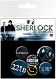 GB eye Gemischtes Button-Set'Sherlock'