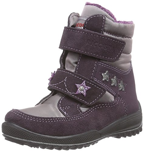 Ricosta  Sakura, Bottes en caoutchouc à tige basse et doublure chaude filles Violet - Violett (dolcetto/purple 340)