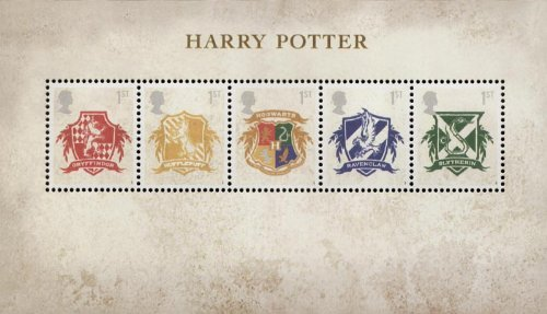 Harry Potter Briefmarken, Präsentation Packungen, Mini Blatt, mit Briefmarkenmotiv/Postkarten 2007 Mini Sheet (Harry-potter-briefmarken)