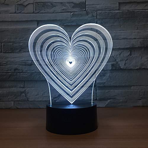 XYD Acrylique Amour créatif lumières Charge modèles USB Amour Coeur Nuit lumière Romantique atmosphère Lampe de Table pour Envoyer Petite Amie