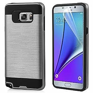 Sunny Fashion Heavy Duty Dual Layer Ultra Slim Armour Hybrid Hard Cover Case For Samsung Galaxy Grand I9082 - Silver