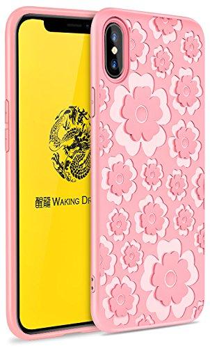Samsung Apple iPhone LG Sony Motorola Moto Handy Fällen, iPhone X, PT223-Graceful Pink Pink Handy Fall