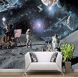 Wmbz Wallpaper 3D Personalizzato Soggiorno Camera Da Letto Luna Lunare Calendario Lunare Rover Galassia Scienza Aerospaziale Sfondo Wallpaper-350X250cm